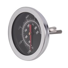 Stainless Steel Oven Thermometers BBQ Smoker Pit Grill Bimetallic thermometer Temp Gauge with Dual Gage 500 Degree Cooking Tools 0 100 degree length 10 cm bimetallic thermometer wss 411 stainless steel disc industrial boiler thermometer radial