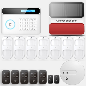 IOS Android APP Control Wireless Home Security GSM Alarm System Remote Control smoke sensor Autodial Smart with outdoor siren yobang security wireless home security wifi rfid sim gsm alarm system ios android app control video ip camera smoke fire sensor