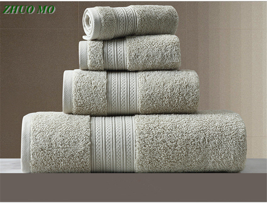 ZHUO MO 150*80cm 100% Pakistan Cotton Bath Towel Super Absorbent Terry Bath Face Towel Large Thicken Adults Bathroom Towels