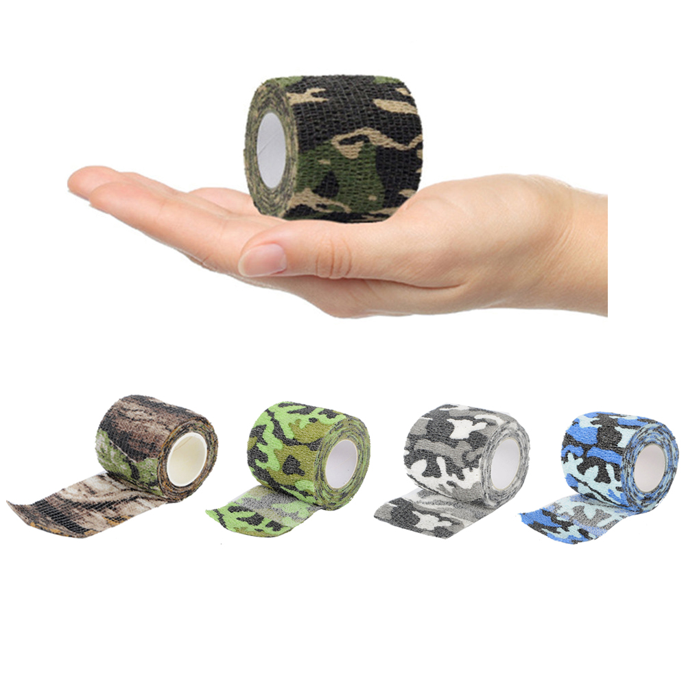 Airsoft Rifle Tape Multi-functional Camo Tape Non-woven Self-adhesive Waterproof Non-Slip Camouflage Hunting Paintball Tape