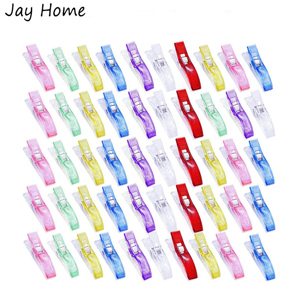 20Pcs Multipurpose Large Sewing Clips 5.6cm Plastic Quilting Clips Patchwork Fabric Craft Clamps DIY Sewing Accessories