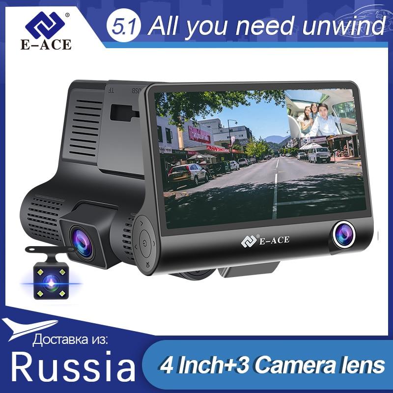 E-ACE Auto Dvr 4,0 Inch Dash Cam FHD 1080P Video Recorder Auto Kamera Auto Dashcam Mit Rückansicht Kamera registrator Dvrs