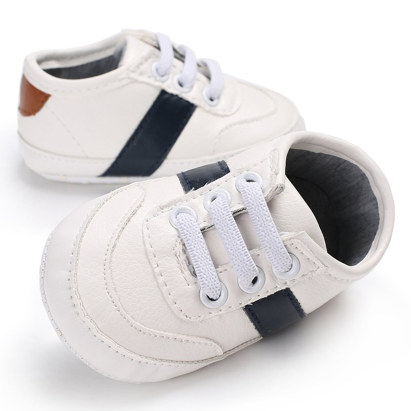 0-18M PU Leather Shoes Baby Boy First Walkers Babe Cute Soft Bottom Newborn Babies