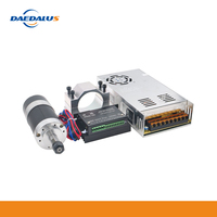 Daedalus CNC Spindle Kit 400W Brushless Air Cooled Spindle Motor WS55 180 Driver Clamp Power Supply For DIY Milling Router Lathe
