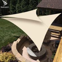 36x36x36 m бежевый/серый козырек от солнца ввиде паруса треугольный