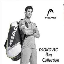 ראש טניס תיק דיוקוביץ טניס מחבט תיק בדמינטון Padel טניס מחבט תיק עבור 9 מחבט Tenis Raquete חבילה Tenis Bolsa