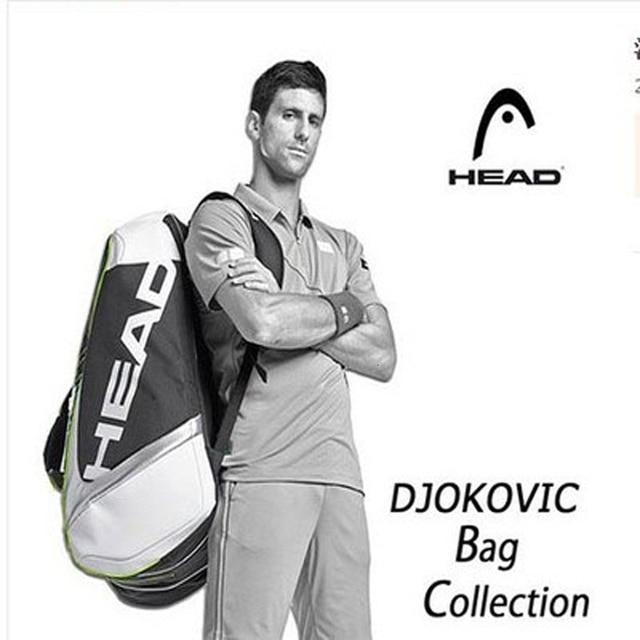 Sac de Tennis tête Djokovic sac de raquette de Tennis Badminton Padel sac de raquette de Tennis pour 9 raquette Tenis Raquete paquet Tenis Bolsa