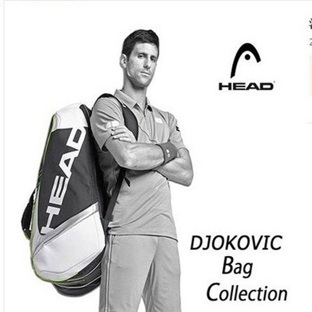 Đầu Túi Bóng Djokovic Quần Vợt Túi Đựng Vợt Cầu Lông Padel Rút Túi Cho 9 Vợt Tenis Raquete Gói Tenis Bolsa