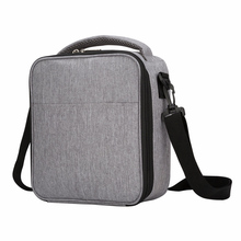 Heopono Detachable Shoulder Strap Fitness Heather Gray Polyester FDA Food Safe Aluminum Foil Thermal Insulated font