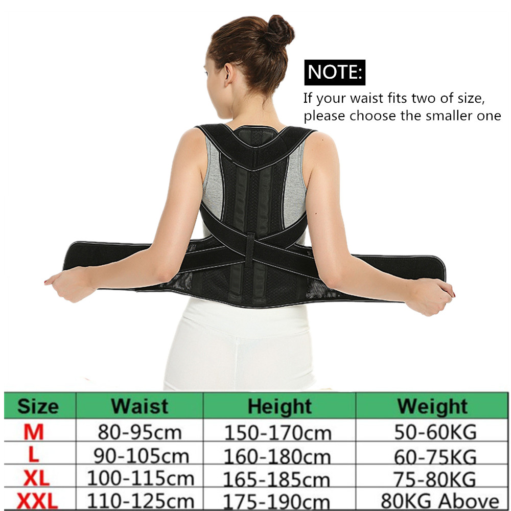 Tlinna Adjustable Back Spine Posture Corrector Adult Humpback Pain Back Support Brace Shoulder Belt Posture Correction 3