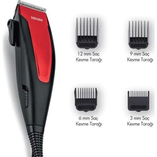 Goldmaster charism Gm-7148 macchina per tagliare i capelli corpo facciale rasoio elettrico kit per toelettatura rasoio per uomo rasatura a secco per barba