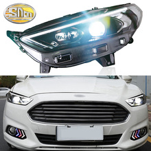 car styling 4pcs set for ford mondeo fusion 2013 2014 2015 2016 taillights led taillight led rear lamp brake reversing signal SNCN Car Styling LED Headlight For Ford Mondeo Fusion 2013 2014 2015 2016 LED DRL Dynamic Turn Signal Head Lamp Assembly