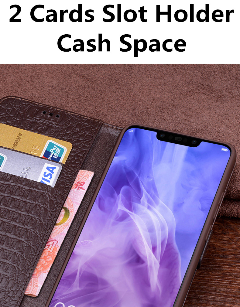 Image 4 - Business genuine leather side magnetic buckle wallet phone case  card holder for Samsung Galaxy A10 A30 A40 A50 A60 A70 phone bagFlip  Cases