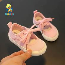 Baby Girls Shoes Children Canvas Shoes Girls Princess Shoes 2019 Spring Summer New Lovely Baby Casual Shoes Breathable cheap babaya Butterfly-knot Hook Loop Solid Rubber Fits true to size take your normal size Casual Princess Simplicity Pale pink white