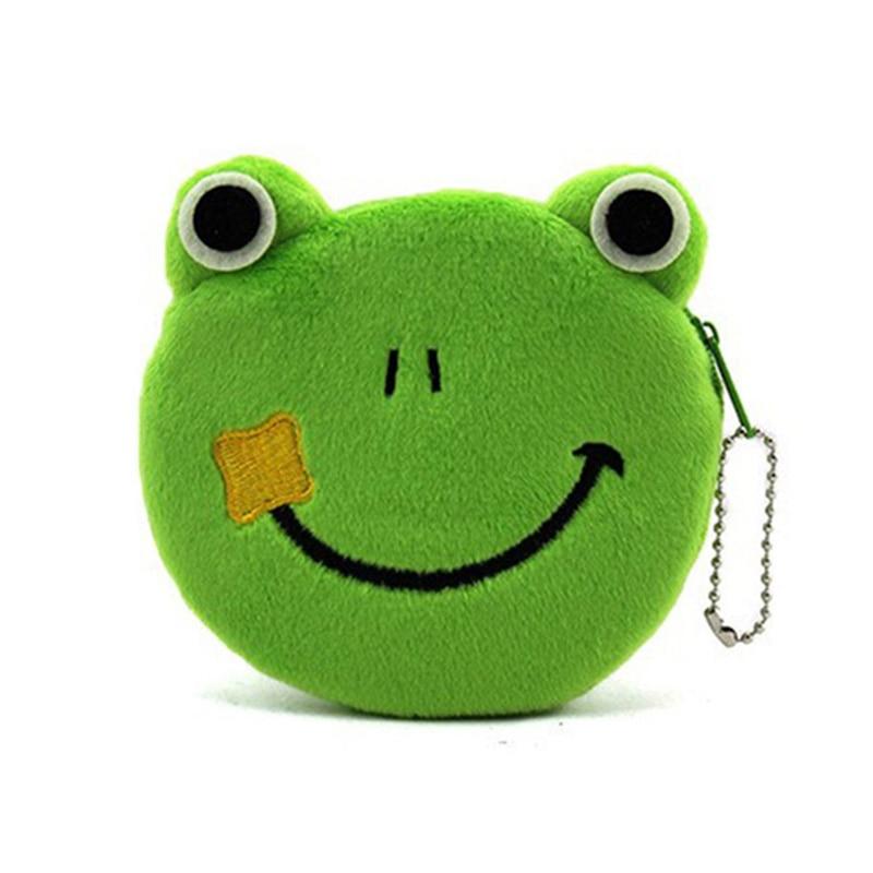 Cartoon Frog Animals Coin Purse Animals Girls Plush Mini Wallet Change Wallet Women Key Coin Children Kids Gift