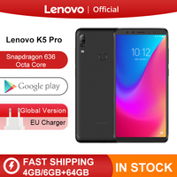 Original Global Version Lenovo K5 Pro 6GB RAM 64GB / 128GB Snapdragon 636 Octa Core Four Cameras 5.99 inch 4G LTE Smartphone