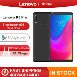 Originale Globale Versione Lenovo K5 Pro 6 Gb di Ram 64 Gb/128 Gb Snapdragon 636 Octa Core a Quattro Telecamere 5.99 Pollici 4G Lte Smartphone