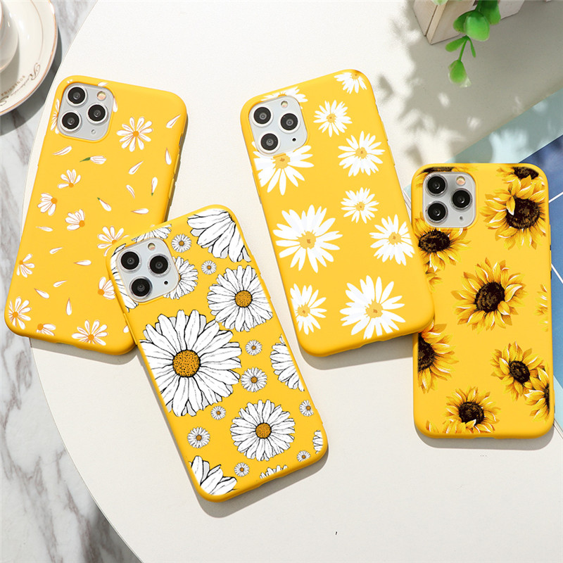 Sunflower Cactus Flower Silicone Phone Case For iPhone 11 Pro XS Max X XR 5 5S 7 8 6 6S Plus SE 2 2020 Soft TPU Back Cover Funda Fitted Cases    - AliExpress