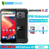 "Ulefone Armor X2 Waterproof IP68 3G Smartphone 5.5"" HD Quad Core Android 8.1 2GB+16GB NFC Face ID 5500mAh Dual Cam Mobile Phone"