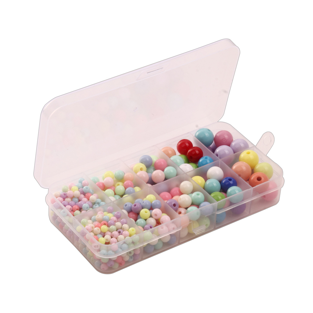 4-12mm Mixed Children Round Beads Set With Holes Beaded Bracelet Loose Beads Toy Accessories Intelligence Hand-Eye Coordination