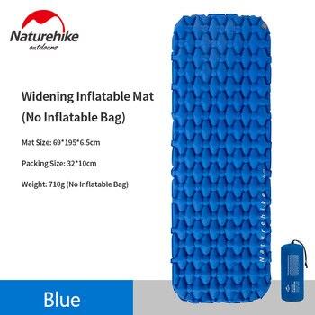 Colchón inflable Naturehike, almohadilla para dormir portátil, cojín inflable, colchón de Camping...