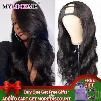 Włosy typu Body Wave U Part peruka włosy naturalne brazylijski włosy Remy damskie peruka z naturalnych włosów Glueless szybko instalujące włosy MYLOCKME Hair tanie i dobre opinie Falista CN (pochodzenie) Remy włosy Średnia wielkość Średni brąz Ciemniejszy kolor tylko Elastyczne koronki Natural Color