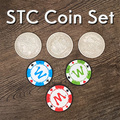 STC Münze Set Zaubertricks Gimmick Requisiten Münze Ändern Durchdringen Magia Close Up Illusionen Multiplikation Silber Münzen zu Chip Magica
