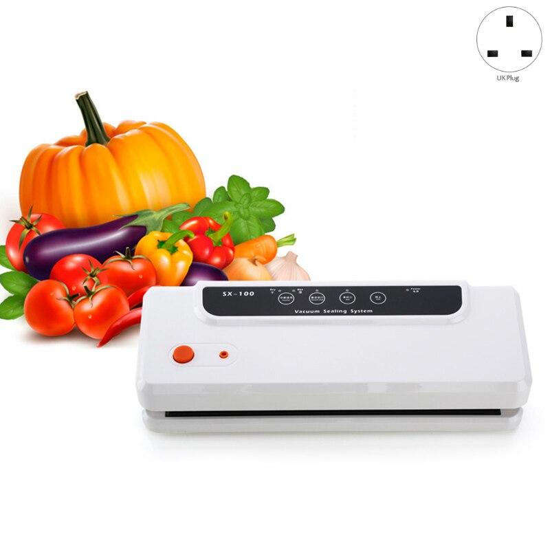 Ev Aletleri'ten Vakumlu Gıda Yalıtıcılar'de Otomatik vakumlama makinesi Packer vakum hava sızdırmazlık paketleme makinesi gıda koruma için kuru  ıslak  yumuşak gıda 10 adet çanta İngiltere P title=