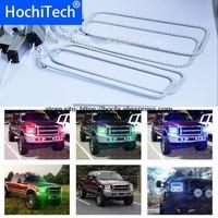 HochiTech RGB Multi Color LED Angel Eyes Halo Rings super brightness car styling For 2005 2007 Ford F250 F 250 F350 F 350