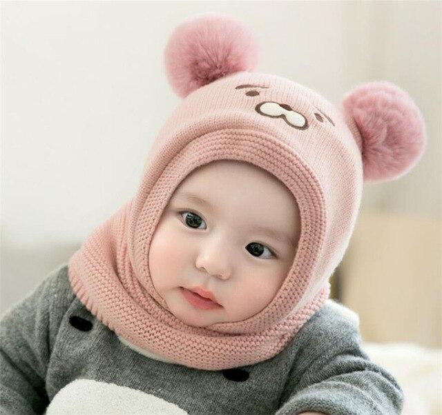 2020 модный детский вязаный короткий плюшевый шарф с капюшоном