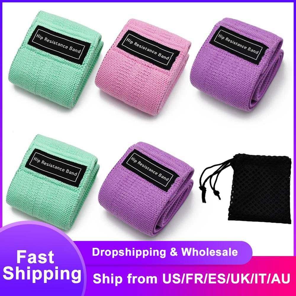 New Durable Hip Circle Band Yoga Anti-slip Gym Fitness Rubber Band Exercises Braided Elastic Band Hip Lifting Resistance Bands