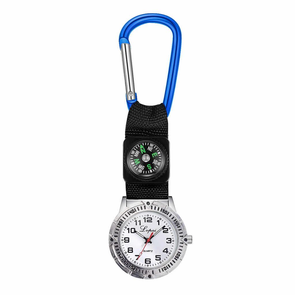 แบบพกพากีฬานาฬิกาหลายฟังก์ชั่นนาฬิกาเข็มทิศแขวนพยาบาลนาฬิกา reloj de bolsillo relogio de bolso