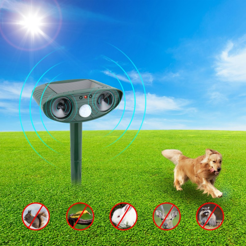 Cat Repeller Animal Repeller Cat Scarer Cat Expeller Dog Ultrasound Pest Control Powerful Solar Powered Outdoor PY