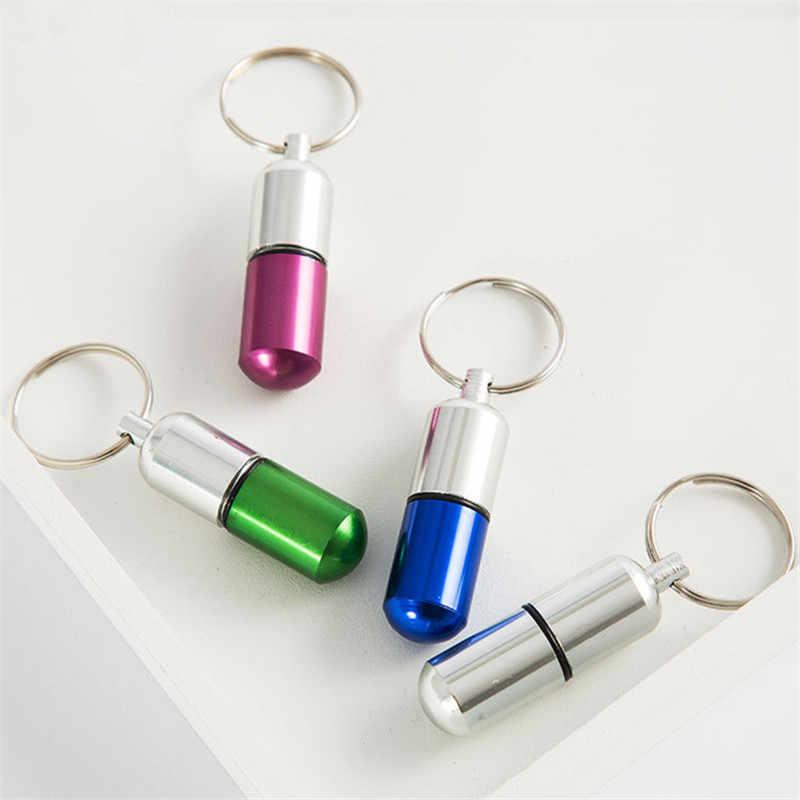 جديدة للماء الألومنيوم حبة صندوق حالة زجاجة حامل الحاويات المفاتيح صندوق دواء المخدرات التخييم معدات التخييم أداة