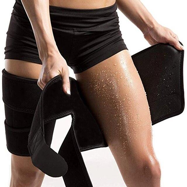 1PC Men Women Leg Shaper Sauna Sweat Thigh Adjustable Leggings Weight Loss Slimming Wraps Legs Thermo Neoprene Compress Belt 1