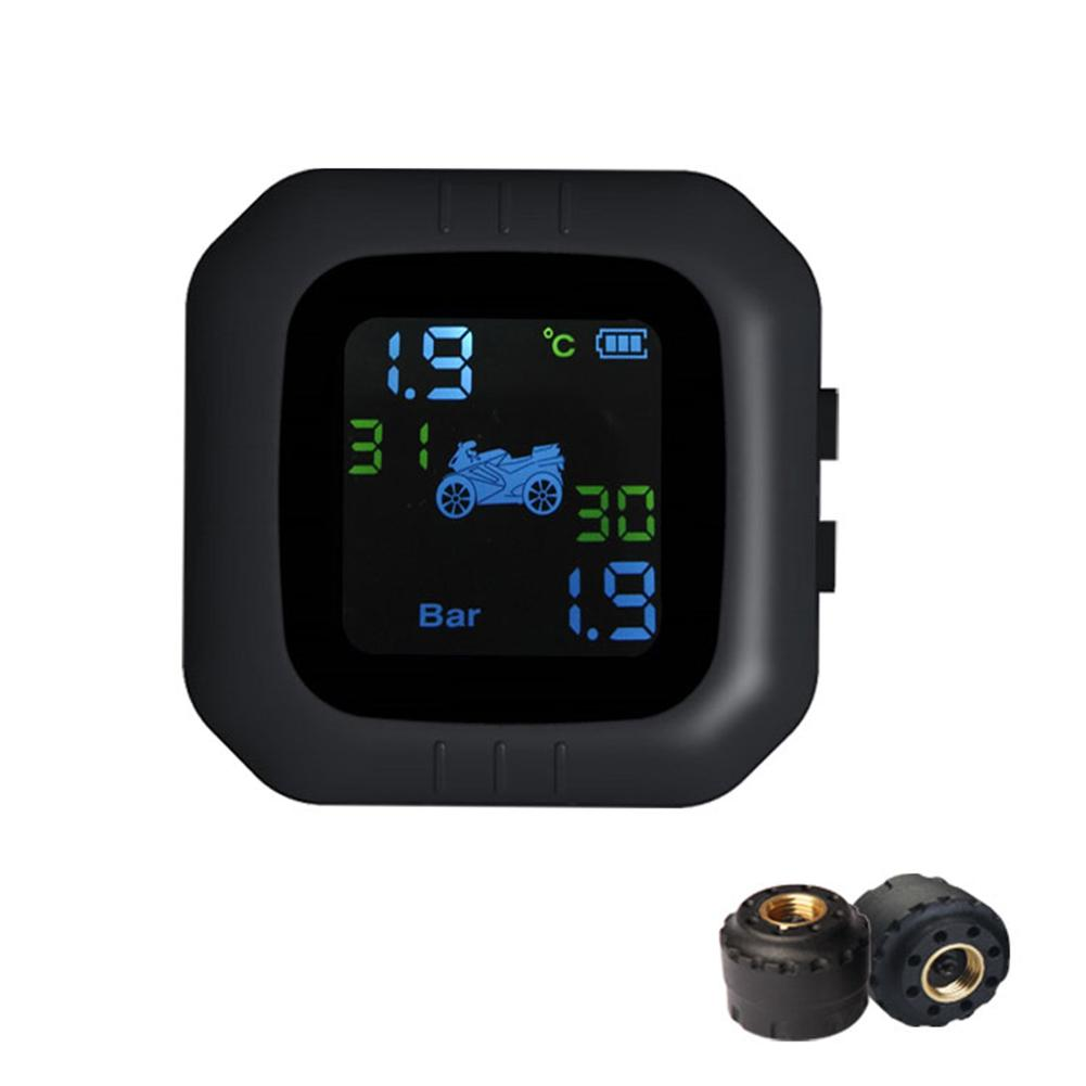 Motorcycle Tire Pressure Monitoring System TPMS Super Waterproof Cordless High Precision Tire Pressure Alarm