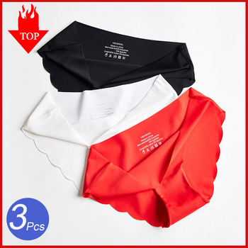 3Pcs/Set Seamless Panties Set Underwear Women's Lingerie Soft SILK Female Fashion Panty  Lady Intimates Low Rise Briefs Set
