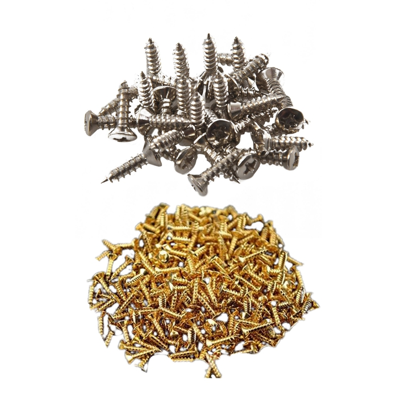 Dropship-60Pcs Pickguard Screw for Fender Strat/Tele Electric Guitar Bass, 30Pcs Silver & 30Pcs Gold