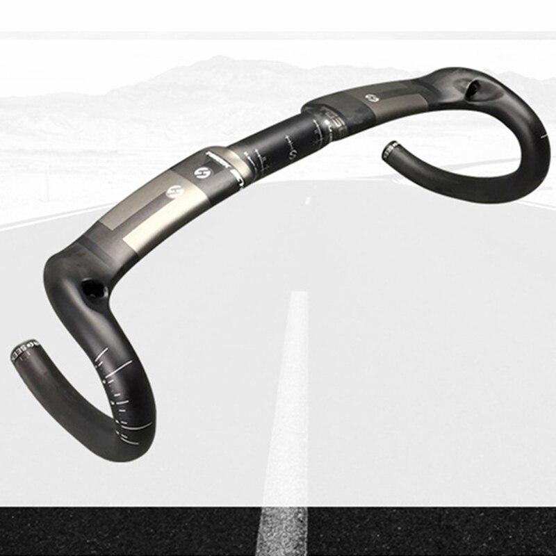 TOSEEK Full Carbon Fiber Road Bike Handlebar Racing Drop Bar 31.8*400//420//440mm