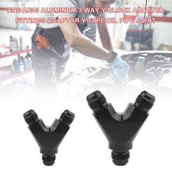 AN6 AN10 Aluminum 3-way Y Block Adapter Fittings Adaptor Y Type Oil Pipe Joint Universal for braided fuel lines oil/fuel/water free shipping sg 50 63 m16x1 5 iso6431 cylinder attachment y type joint u joints y page 3
