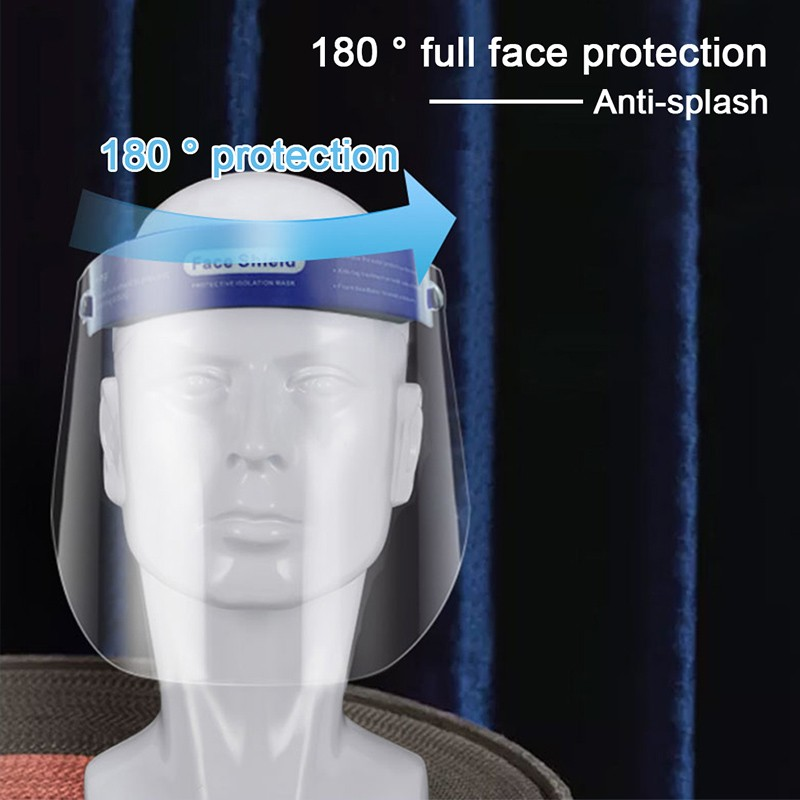 HD Transparent Safety Full Face Shield PET Anti Droplet Dustproof Protective Mask Outdoor Activies Anti Dust Oil-proof