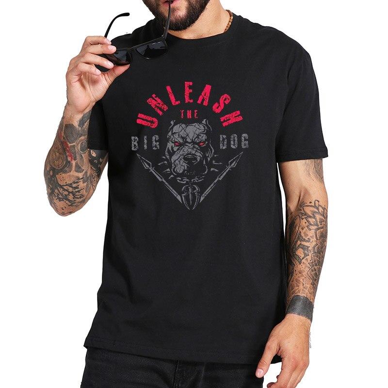 New Cotton T Shirt Men Roman Reigns Tshirt The Big Dog Fashi…
