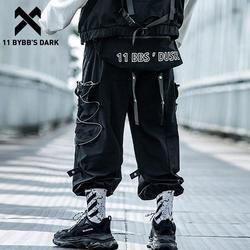 11 BYBB'S DARK Съемный ремень сумка карго Брюки мужские светоотражающие повседневные уличные спортивные штаны Harajuku Хип-хоп брюки для бега