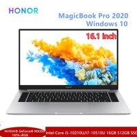 HONOR MagicBook Pro 2020 ordenador portátil de 16,1 pulgadas Intel Core i5-10210U/i7-10510U Nvidia MX350 PCIE SSD FHD