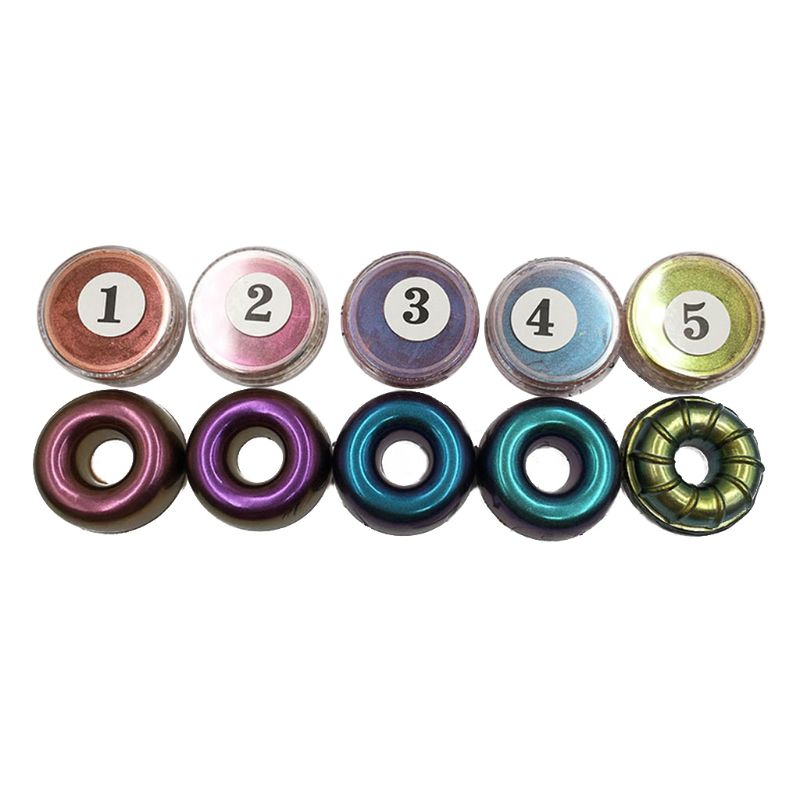 5 Colors Chameleon Pigment Pearl Powder  Mermaid Crystal Epoxy Resin Glitter Resin DIY Jewelry Making Craft Accessories