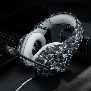 Image 5 - Camouflage PS4 Gaming Cuffie 3.5mm di trasporto Wired Stereo Bass Cuffie Casque con Microfono + Mouse Da Gioco Per PS4 PC Gamer XBOX