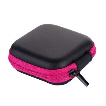 Storage Bag Mini Zipper Hard  Leather Earphone Pouch Box small items earrings beads jewelry accessories storage case 19JUL1