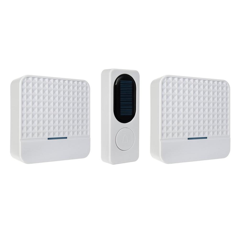 Solar Powered Wireless Doorbell Home Door Bell Safety Alert System With Night Light Waterproof Drop Shipping