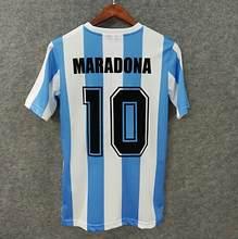 Классическая индивидуализированная футболка Maradona #10 в стиле ретро 1986