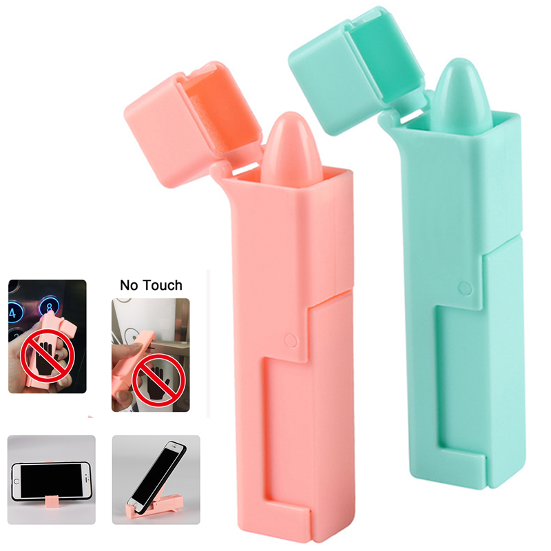 Portable Hygiene Handle Antimicrobial Protection ABS Outdoor Self Sterilizing No Touch Door Opener Elevator Button Tool Stick